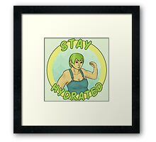 Stay Hydrated Framed Print
