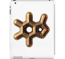 Coffee-Colored Caffeine Molecule iPad Case/Skin
