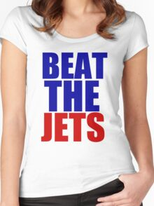 New England Patriots - BEAT THE JETS Women's Fitted Scoop T-Shirt