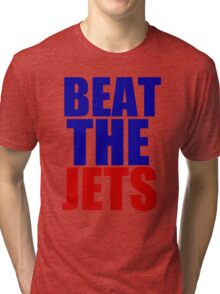New England Patriots - BEAT THE JETS Tri-blend T-Shirt