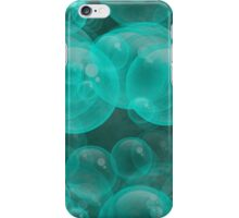 Large Aqua Water Air Bubbles iPhone Case/Skin