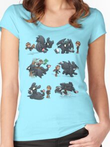 How Not to Train Your Dragon Women's Fitted Scoop T-Shirt