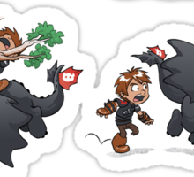 How Not to Train Your Dragon Sticker