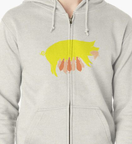The Mighty Star Swallower (Tellus) Zipped Hoodie