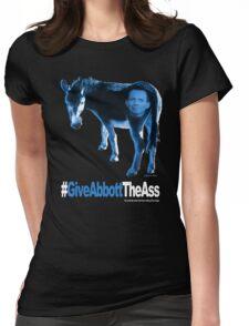 Give Abbott The Ass w/head - T-Shirt - Blue Womens Fitted T-Shirt
