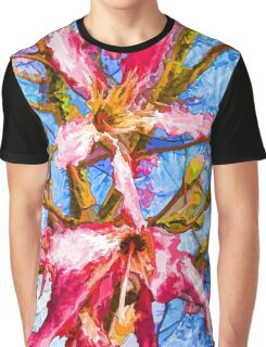Tropical Flowers Design Graphic T-Shirt