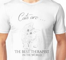 Cats are the best therapist in the world Unisex T-Shirt
