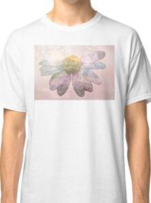 Double exposure flower power Classic T-Shirt