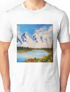 snowy mountains Unisex T-Shirt