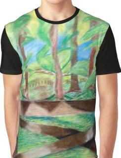 Flash of Scenery  Graphic T-Shirt