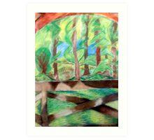 Flash of Scenery  Art Print