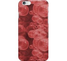Small Red Water Air Bubbles  iPhone Case/Skin