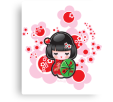 Japanese Kokeshi Doll Canvas Print