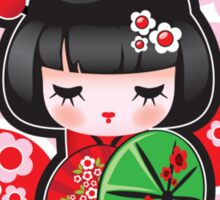 Japanese Kokeshi Doll Sticker