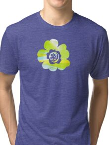In Between Green, Yellow and Blue - JUSTART ©  Tri-blend T-Shirt