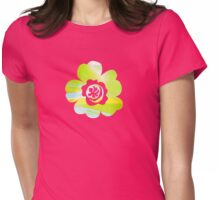 In Between Green, Yellow and Blue - JUSTART ©  Womens Fitted T-Shirt