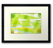 In Between Green, Yellow and Blue - JUSTART ©  Framed Print