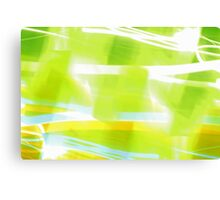 In Between Green, Yellow and Blue - JUSTART ©  Canvas Print