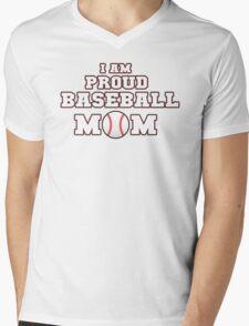 I am Proud Baseball Mom Mens V-Neck T-Shirt