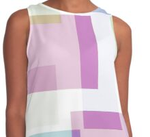 Abstract Squared Pastels Contrast Tank