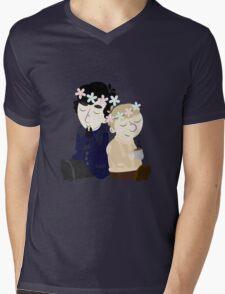 John and Sherlock Flower Crown (no background) Mens V-Neck T-Shirt