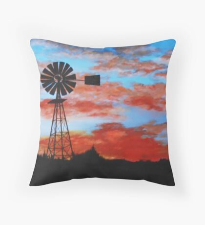 outback sunset Throw Pillow