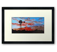 outback sunset Framed Print