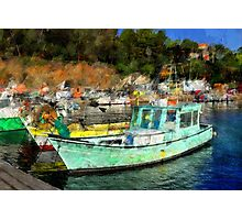 Fisher Boats in Niel Harbour Photographic Print