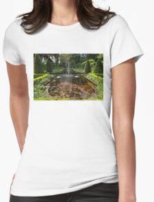 Backyard Oasis Symmetry - Gracious Garden Fountain Womens Fitted T-Shirt