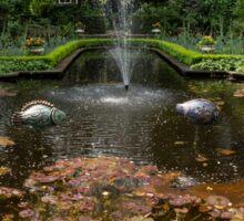 Backyard Oasis Symmetry - Gracious Garden Fountain Sticker
