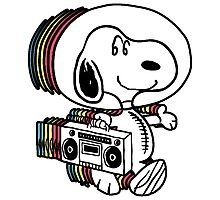 Snoopy Astronout Photographic Print