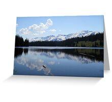 Beautiful Mountains reflecting on a calm lake. Greeting Card