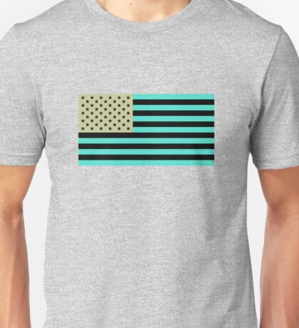 USA flag inverted color Unisex T-Shirt