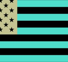 USA flag inverted color Sticker
