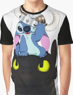 Stitch Viking Style Graphic T-Shirt