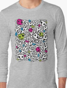 Funky Skulls Long Sleeve T-Shirt