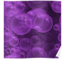 Large Hot Purple Water Air Bubbles Poster
