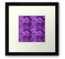 Small Hot Purple Water Air Bubbles Framed Print