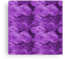 Small Hot Purple Water Air Bubbles Canvas Print