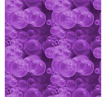 Small Hot Purple Water Air Bubbles Photographic Print