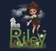 Apple - Kids Tshirt Art with Custom Name Baby Tee