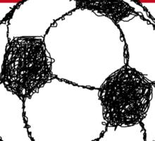 Football Sketch, Spain Sticker