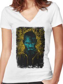 Heisenberg Graffiti Women's Fitted V-Neck T-Shirt
