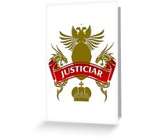The Justiciar Coat-of-Arms    Greeting Card
