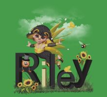 Sunflower - Kids Tshirt Art with Custom Name Baby Tee