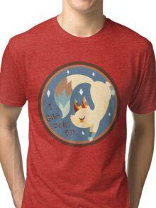 I Don't Give A FOX! .:Brown BG:. Tri-blend T-Shirt