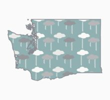 Washington State Rain Clouds Pattern by CorrieJacobs