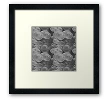 Small Black & White Water Air Bubbles Framed Print