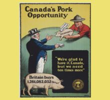 Vintage poster - Canada's Pork Oppoprtunity Baby Tee