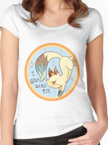 I Don't Give A FOX!  Women's Fitted Scoop T-Shirt